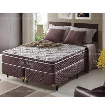 Cama Box Casal King Size com Molas Ensacadas Relax Adorabile Marrom - 193x203x63cm - 1,93 X 2,03 - Ecoflex
