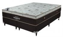 Cama Box+Colchão King Size Ortobom Bellagio Latex 186x198x53 -