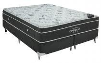 Cama Box+Colchão King Size Ortobom Exclusive 186x198x55 -