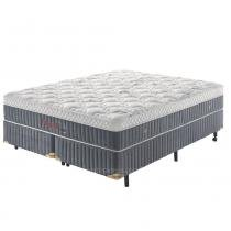 Cama Box King Molas Ultracoil até 150kg - Fresh Touch D50 Germany - Malha Bordada 450g - 158x198x57 - 1,58 x 1,98 - Palemax