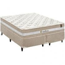Cama Box King Size (Box + Colchão) King Koil - Mola Pocket 72cm de Altura Satisfaction