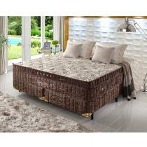 Cama Box King Size Dulpa Molas Ensacadas High e Low Grand Luxe - Espuma Látex - Firmeza - 193x203x73 - Palemax