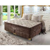 Cama Box King Size Dupla Molas Ensacadas High e Low Grand Luxe - Espuma Látex - 193x203x73 - 1,93 X 2,03 - Palemax