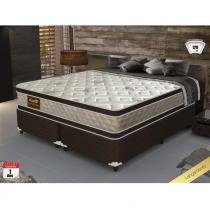 Cama box king size good like molas ensacadas e euro top duplo - firme - gazin - 193x203x73 -