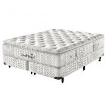 Cama Box King Size Molas Ensacadas Special Bambu Visco - Pillow c/ Visco Natural - 158x198x57 - Palemax