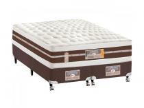 Cama Box Queen Size (Box + Colchão) Castor - Mola Pocket 62cm de Altura Silver Star