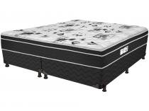Cama Box Queen Size (Box + Colchão) ProDormir - Colchões Mola 30cm de Altura Sensitive Born Black