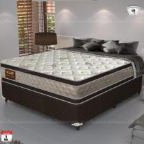 Cama Box Queen Size Good Like Molas Ensacadas e Euro Top Duplo - Firme - Gazin - 138x188x73 - Gazin