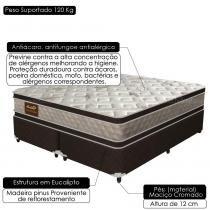 Cama Box Queen Size Good Like Molas Ensacadas e Euro Top Duplo - Firme - Gazin - 158x198x73 - Gazin