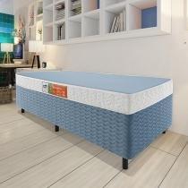 Cama Box Solteiro (Box + Colchão) Celuplás - 41cm de Altura Color Block Box Color