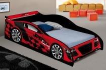 Cama Carro Infantil Speedy Vermelho - 150 x 70 cm - J  A Móveis