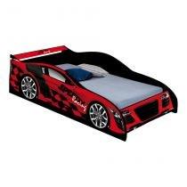 Cama carro solteiro speedy vermelho - J  a