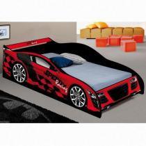 Cama Carro Speed Racing Solteiro - Vermelha - JA Móveis