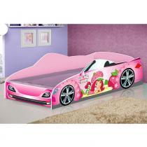 Cama Carro Star Solteiro - Moranguinho - Rosa - JA Móveis