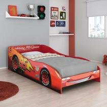 Cama Carros Disney Plus 5A 100 MDF Vermelho - Pura Magia - Pura Magia