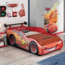 Cama Carros Disney Star 1A 100 MDF com Aerofólio Star 5A Vermelho - Pura Magia - Pura Magia