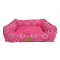 Cama Coroa Para Cães E Gatos Tamanho P Pink Fábrica Pet -