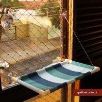 Cama de gato para janela Catbed Gatton King - Listrada Azul -