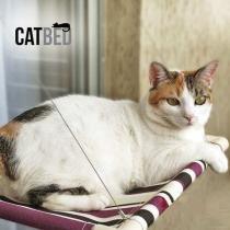 Cama de gato para janela Catbed Gatton - Listrada Roxo -