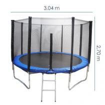 Cama Elástica com Escada e Rede 10 Pés - Diâmetro 304 cm - THCE10PES - Tander home
