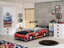 Cama Infantil 217x93cm Móveis Estrela - Racer Car