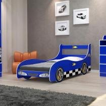 Cama Infantil Carro Rally Azul - Gelius móveis