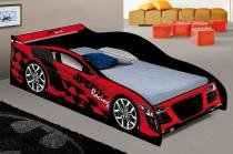 Cama infantil carro speedy vermelho - ja móveis - J  a móveis
