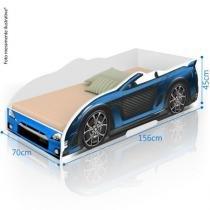 Cama Infantil Carro Sport - Azul - Divaloto