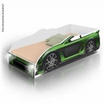 Cama Infantil Carro Sport com LED e com Colchão - Verde - Divaloto