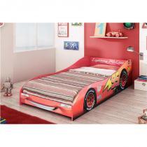 Cama Infantil Carros Disney Plus - Pura Magia - Vermelho -