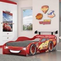 Cama Infantil Carros Disney Star 7A Pura Magia Vermelho -