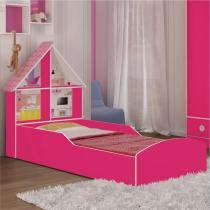Cama Infantil Casinha Pink Ploc  Gelius - Gelius