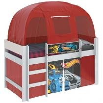 Cama Infantil com Dossel Barraca - Pura Magia Disney Play Hot Wheels