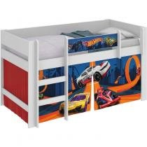 Cama Infantil Hot Wheels Play Pura Magia Branco -