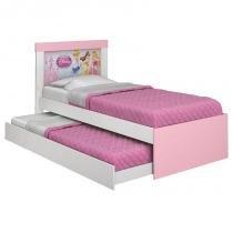 Cama Infantil Princesas Disney Happy com Auxiliar Rosa - Pura Magia -