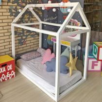 Cama Montessoriana Bebê Branco - Branco - Markine Mobilier