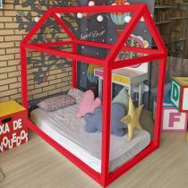 Cama Montessoriana Solteiro Vermelho - Vermelho - Markine Mobilier