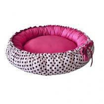 Cama Pet Cachorro Gato Redonda Dupla Face Poly - Rosa Poá Pink - Senhor bicho