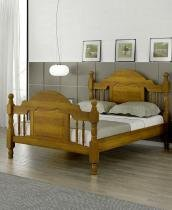 Cama Queen Size Caribe Pezeira Alta de Madeira Maciça Pinus - Bedroom