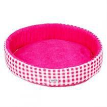 Cama Redonda Para Cachorro G Pink Fábrica Pet -