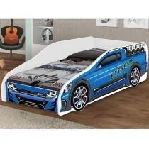 Cama Solteiro Carros Extreme - Azul - JM Barreto
