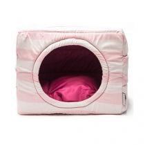 Cama Toca Pet Cachorro Gato 2 em 1 - G - Listra Rosa Pink - Senhor bicho