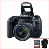 Camera Canon 77D com 18-55mm f/4-5.6 IS STM -