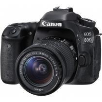 Câmera Canon DSLR Eos 80D Com Lente De 18-55mm -