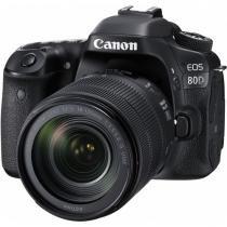 Câmera Canon DSLR EOS 80D kit Lente de 18-135mm -