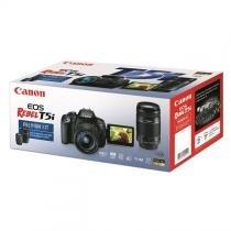 Câmera Canon DSLR EOS Rebel T5i PREMIUM kit Lente 18-55mm + 55-250mm -