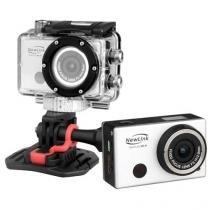 Câmera de Ação Sport Cam NewLink Wi-Fi FS101 Prata  8MP, Conexão Micro USB e Mini HDMI - OEX - Newex