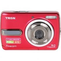 "Câmera Digital 16MP Tron Finecam FL160 com LCD 2,4"" Vermelha - Casa  Video"