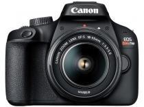 Câmera Digital Canon DSLR Semiprofissional - 18MP T100 Wi-Fi Zoom 3x