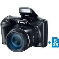 "Câmera Digital Canon PowerShot SX400IS 16MP - Semiprofissional Visor 3"" Cartão 8GB"